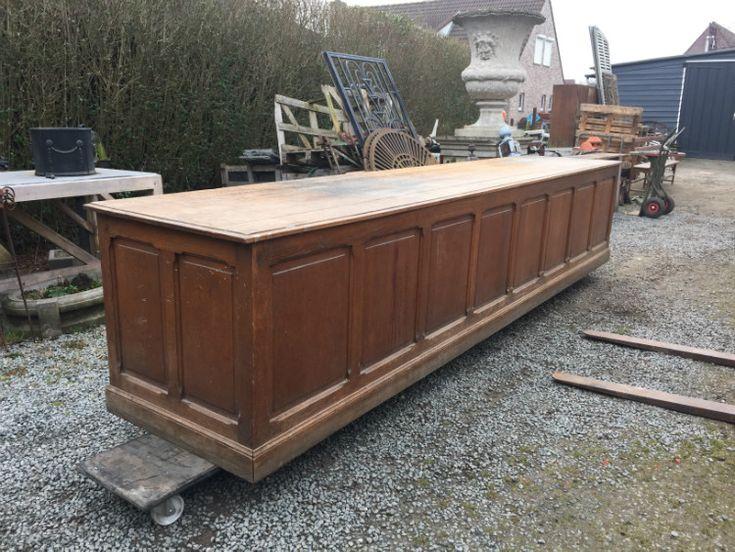 Oude winkelbalie - Brocante meubels - Collection - Benko oude antieke bouwmaterialen