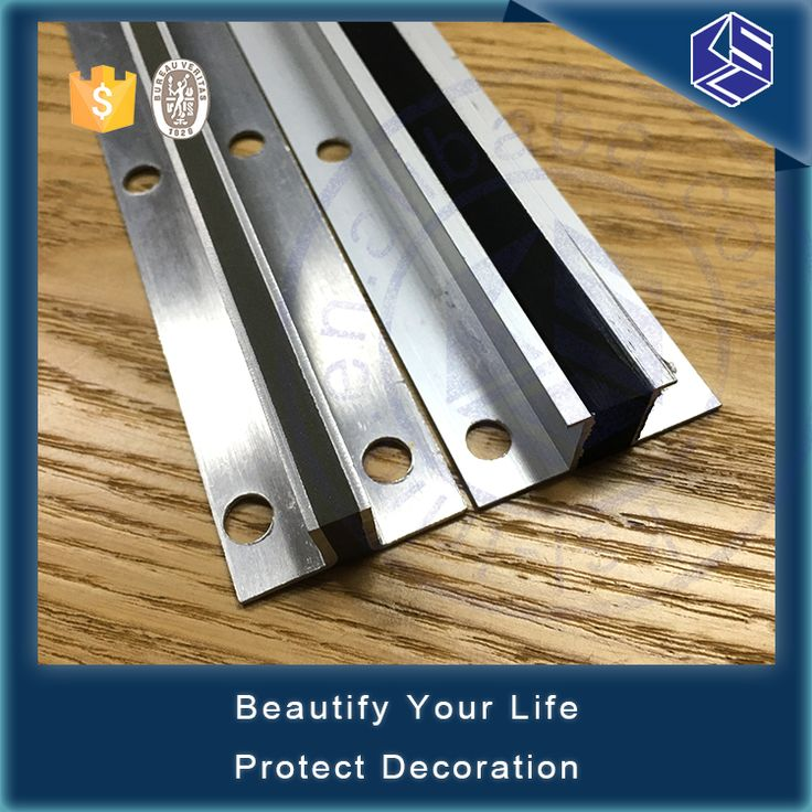 Trade assurance rubber inserted aluminium floor expansion joint covers