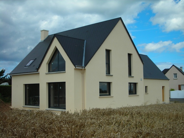 Quel couleur de cr pis avec menuiseries gris anthracite for Couleur maison construction