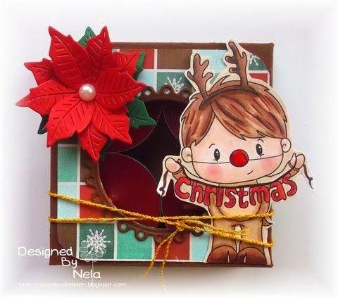 Hallo und herzlich Willkommen an diesem Samstag. Ich möchte euch gerne zeigen, wie ihr eine kleine Box machen könnt, in die z. B. 4 Küssche...