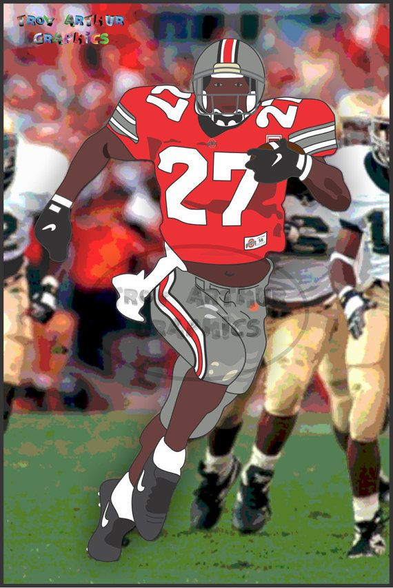 Eddie George 1995  FREE SHIPPING USA Vector by TroyArthurGraphics