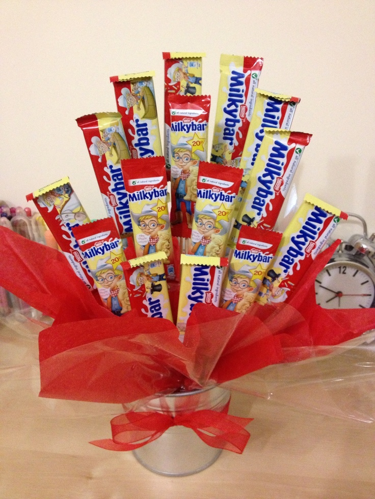Milky bar sweetie bouquet hamper