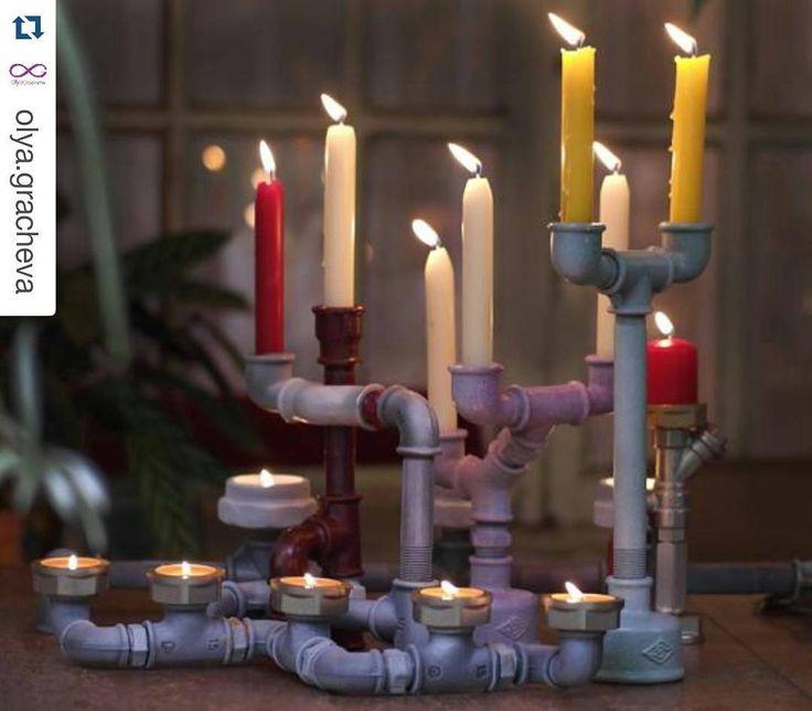 """Очень хочется сделать для кого-нибудь такой большой подсвечник.  #Repost @olya.gracheva with @repostapp  В конце фотосессии сделали """"групповую фотографию"""". И возникла идея сделать большой подсвечник единой конструкцией. В моем доме уже ему нашлось место:) на камине конечно. А у вас для подсвечника на сколько свечей найдется место? И вообще любите ли вы свечи? Как часто зажигаете? Поделитесь опытом и впечатлениями. Подсвечники делаю я сама (#diy) любой из них можно заказать себе или в…"""