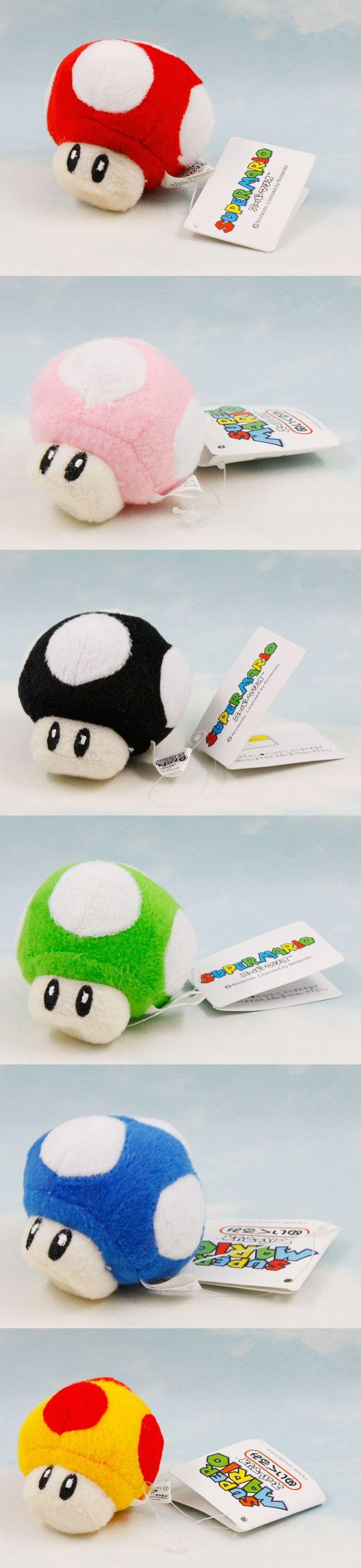 Hot Japan Super Mario Anime Figures 8cm Mini Mario Bros Luigi Yoshi Mushrooms Cartoon Game Toys Kids Toy