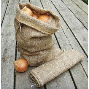 Potato and Onion Vegetable Hessian Storage Sack - Small (45cm x 30cm): Amazon.co.uk: Kitchen & Home