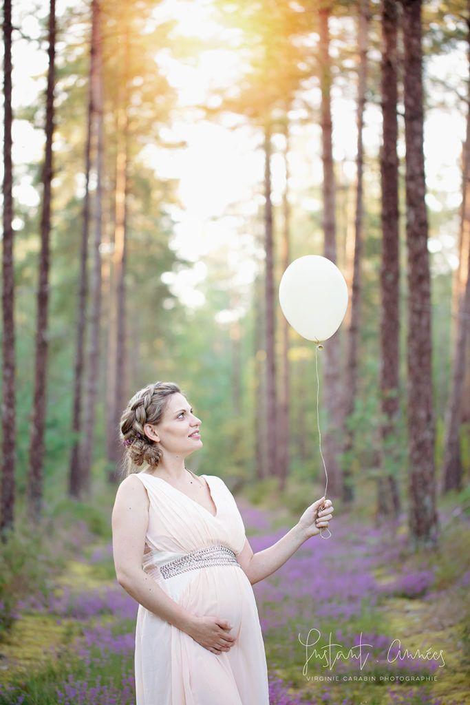 seance maternité Lovely Maternity studio Instant.Années - boho chic, ballon
