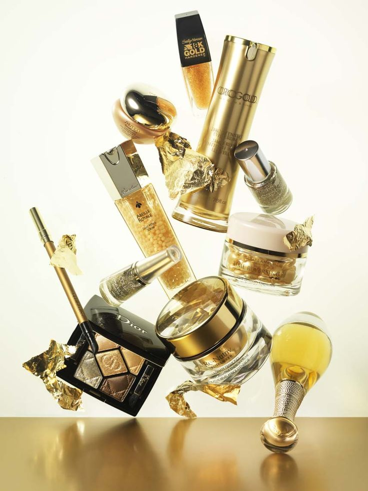 Beauty Photography by Frank Brandwijk I 'Golden Beauty Products' 'Gold' 'Photography Stilllife Beauty Product, Makeup & Cosmetics'