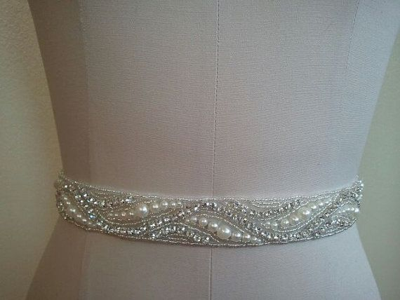Possible Sash option?  SALE - Wedding Belt Bridal Belt Sash Belt by LucyBridalBoutique, $38.00