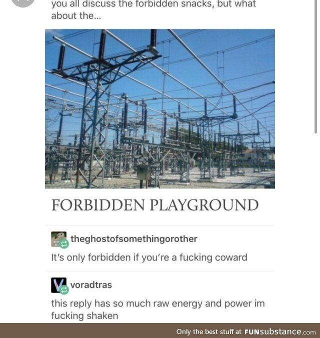 Yeah because they play on the forbidden playground