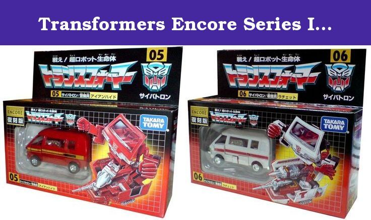Transformers Encore Series Ironhide & Ratchet Set Purchase: Set of 2. Transformers Ironhide & Ratchet reissue set. From the Transformers Encore reissue series imported from Japan. Nearly identical to the original version. Each comes:.
