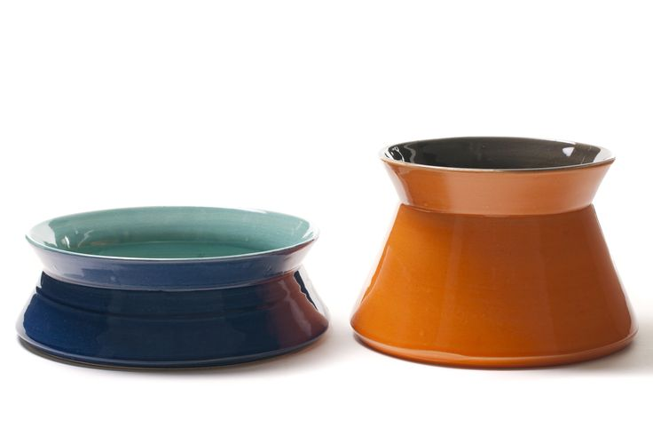 HYDRA BOWL & HYDRA + by CaCo design handmade in Portugal. www.cacostore.com #blue #orange #ceramics #homedecor