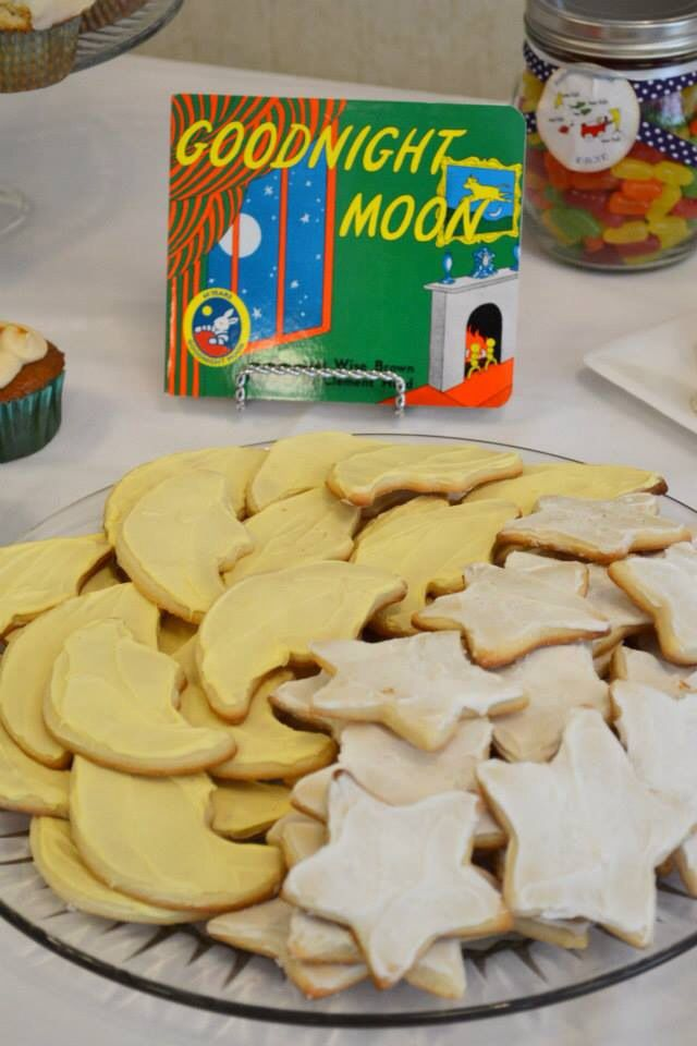 Angie Serra made homemade sugar cookies to match the story book theme that she personally selected. :):):):). Children's book theme  Candy buffet baby shower.