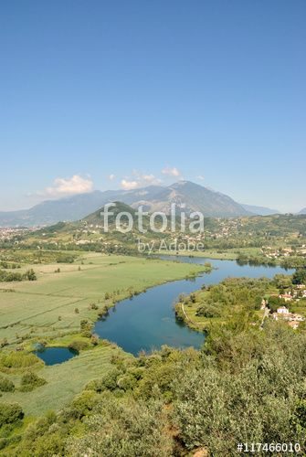 Veduta del Lago di Posta Fibreno - Frosinone - Lazio - Italia