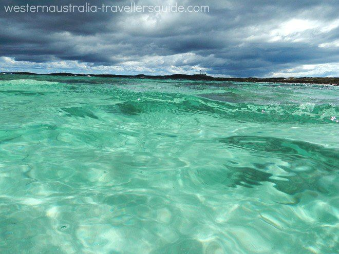 Swimming at Rottnest Island's Salmon Bay as a cold front rolls in from the west. #WesternAustralia