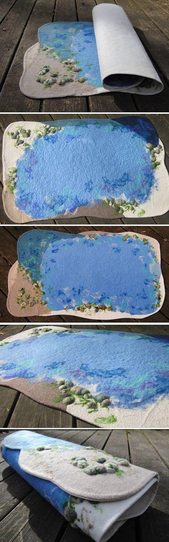 2'x3' Wool Sea, Ocean Playmat