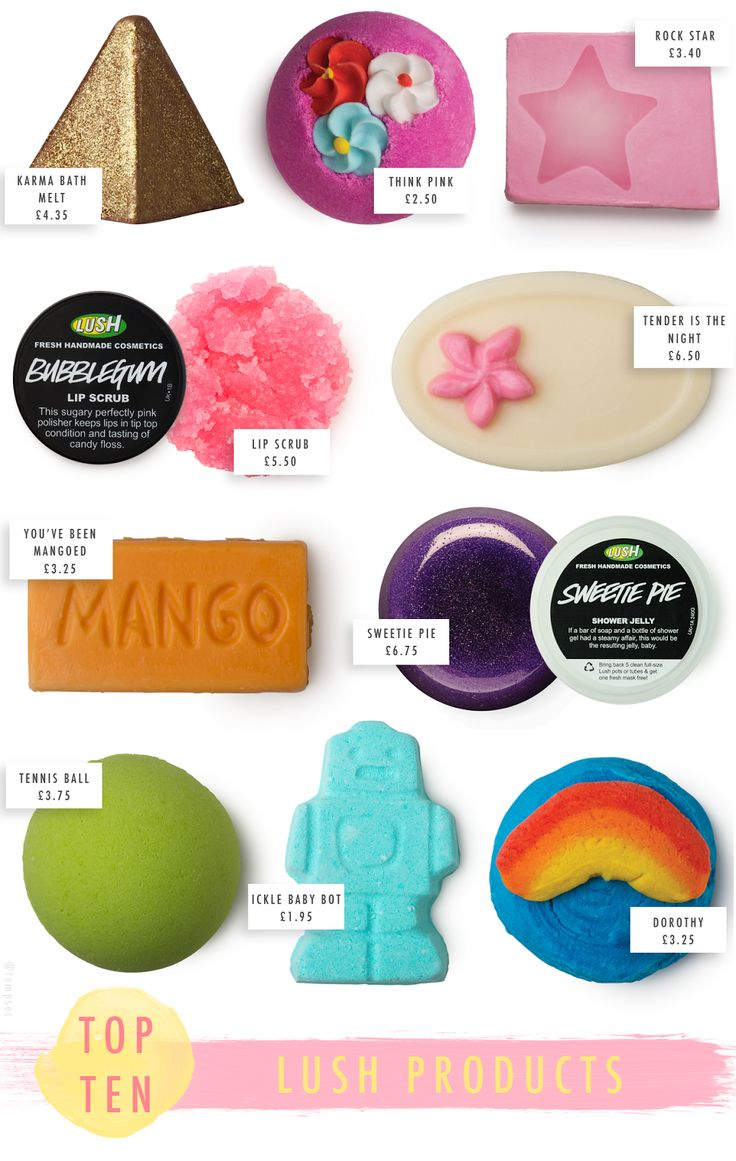 Temporary:Secretary | UK Fashion & Beauty Blogger: Top 10: LUSH Products
