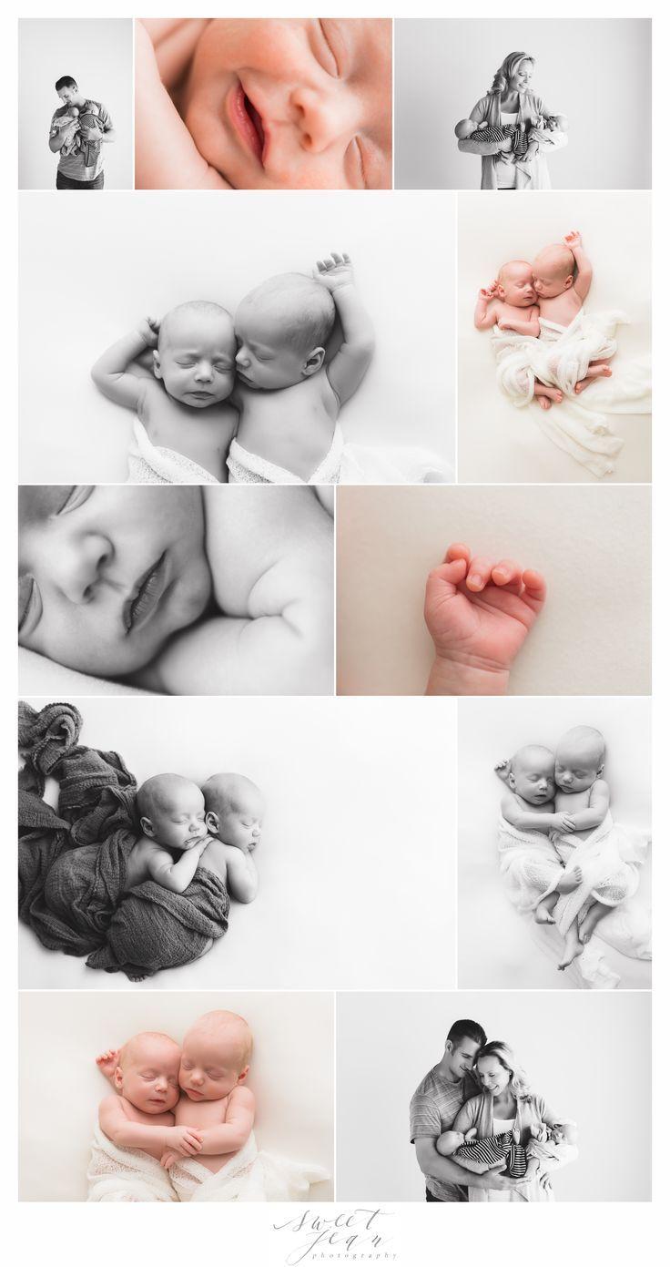 Newborn Twin Portrait Session Newborn Photography  Natural newborn photography