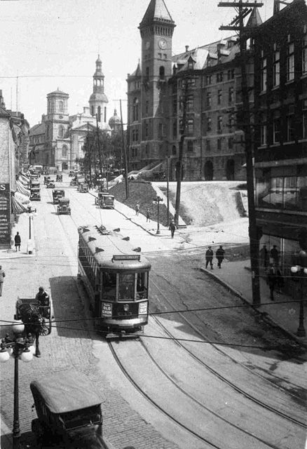 Un tramway a Montreal