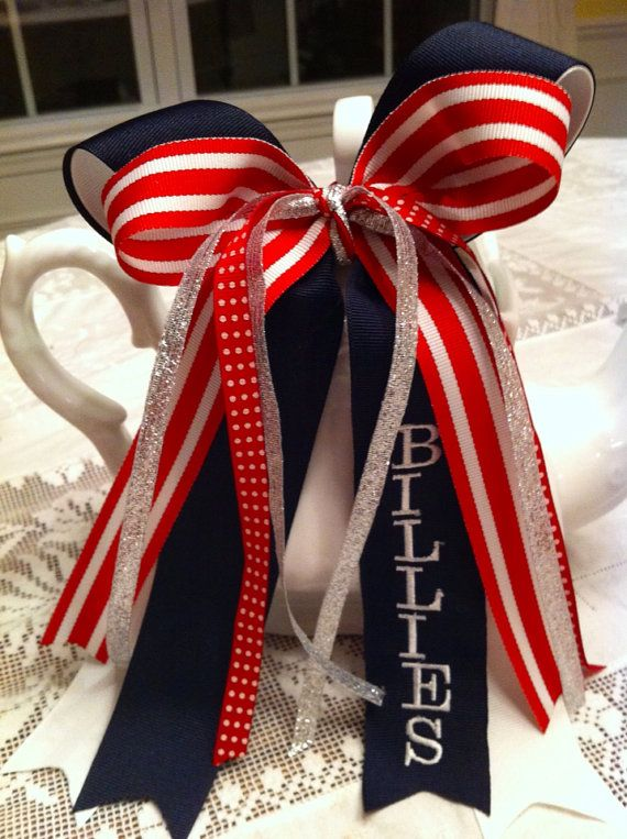 Sport and Cheer Spirit bows rally Team by GardenGirlOriginals