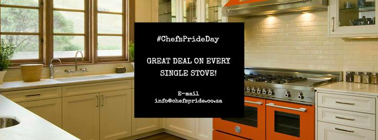 Move over, #BlackFriday, because every day is a #ChefsPrideDay! That's right: for the rest of this year and while stocks last, you can personally secure any one of our stoves at a WINNING price! Just message us, or e-mail info@chefspride.co.za and tell us which stove you want a good deal on! Easy as that!