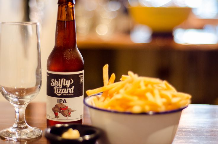 South Australian Brewery Shifty Lizard. Served next to delicious foods at Bon Ap in Fitzroy Melbourne