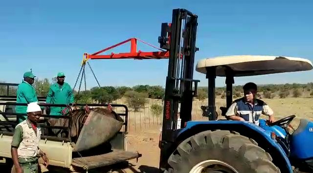 Use your tractor forklift with the game loading attachment to load game into a trailer or truck.  https://youtu.be/FWDJjdekGaU