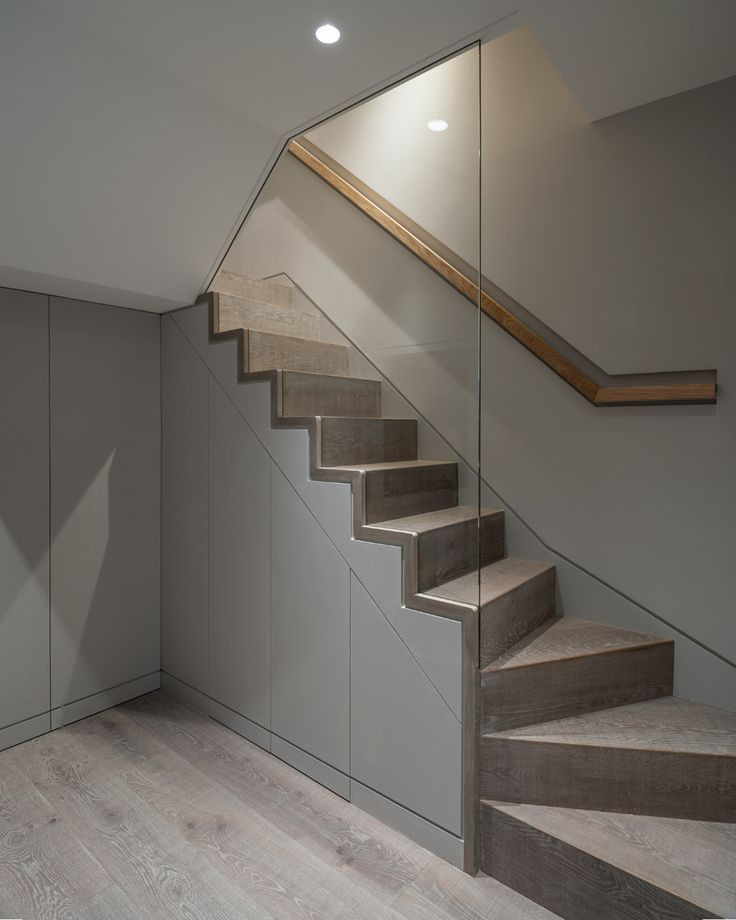 Stairs with glass wall | A house for Agnes by Tigg and Coll Architects