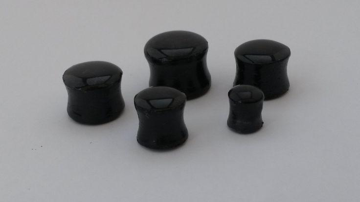 black ear plugs. 8 10 12 14 16 20 mm polymer clay by PolySanAntoni, €8.00