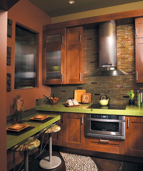 Green Kitchen Countertops: 76 Best Kitchen Backsplashes Images On Pinterest