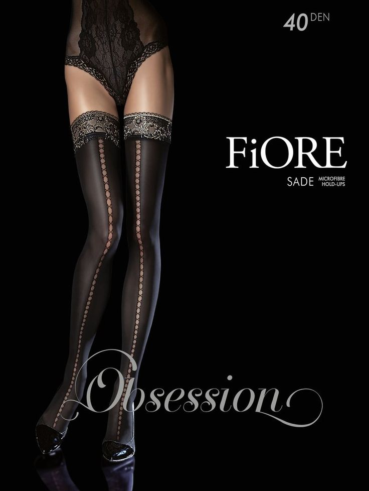 Womens Jaci/Sensual Hold-up Stockings, 40 Den Fiore