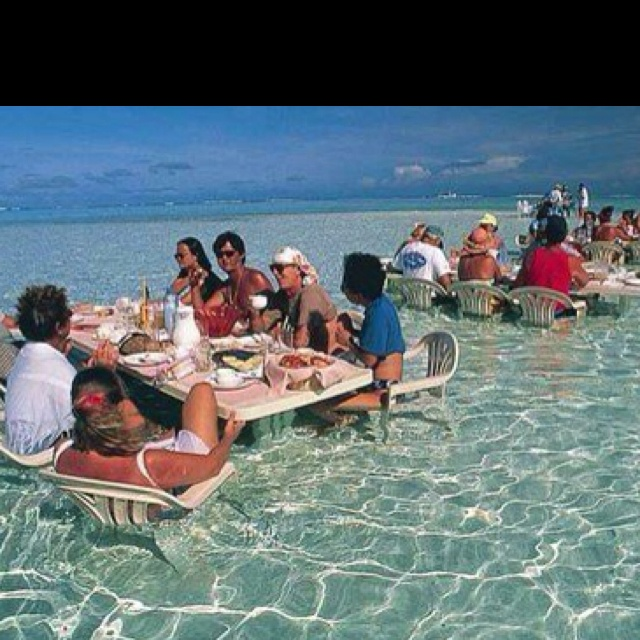 Dinner...surf style!! We have actually done this!
