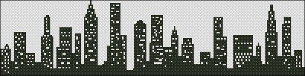New York Skyline, from KDA Cross Stitch.