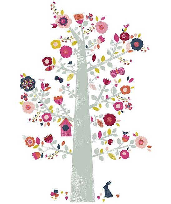 Vinilos infantiles grandes arbol flores lilipinso vinyls for Jardin infantil serrano 78