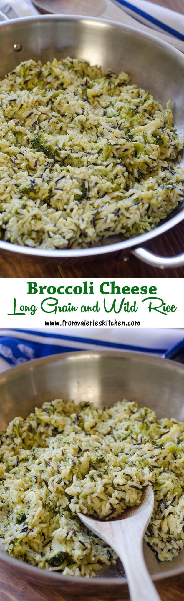 EASY 30 minute Broccoli Cheese Long Grain and Wild Rice! ~ http://www.fromvalerieskitchen.com