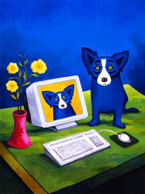 George Rodrigue's Blue Dog paintings.
