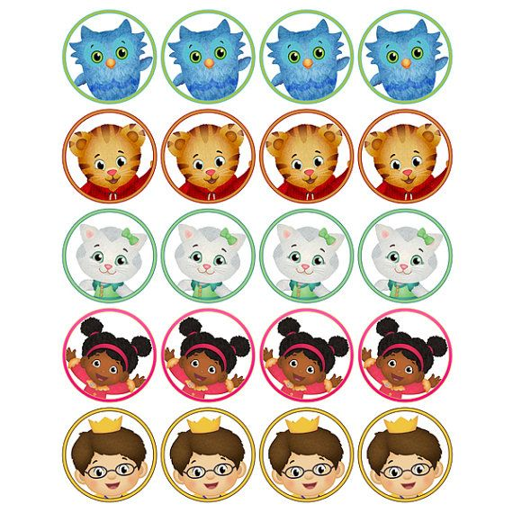 INSTANT DOWNLOAD Daniel Tiger's Neighborhood - (2 inch) - for Balloon, Stickers, Lollipop, Favor bags, Cups - Printable Files on Etsy, $2.00
