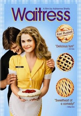 Waitress (2007) Keri Russell stars as Jenna, a waitress whose fabulous pies are about the only sweet ingredient in an otherwise dreary existence. That is, until an unwanted pregnancy breeds unexpected romance between Jenna and an attractive doctor. Written by director and co-star Adrienne Shelly (who was murdered shortly before the film's selection for Sundance), this charmer is a frank and funny examination of the fears brought on by impending motherhood.Film, Great Movie, Pies Recipe, Waitress 2007, Keri Russell, Andygriffith, Andy Griffith, Nathan Fillion, Favorite Movie
