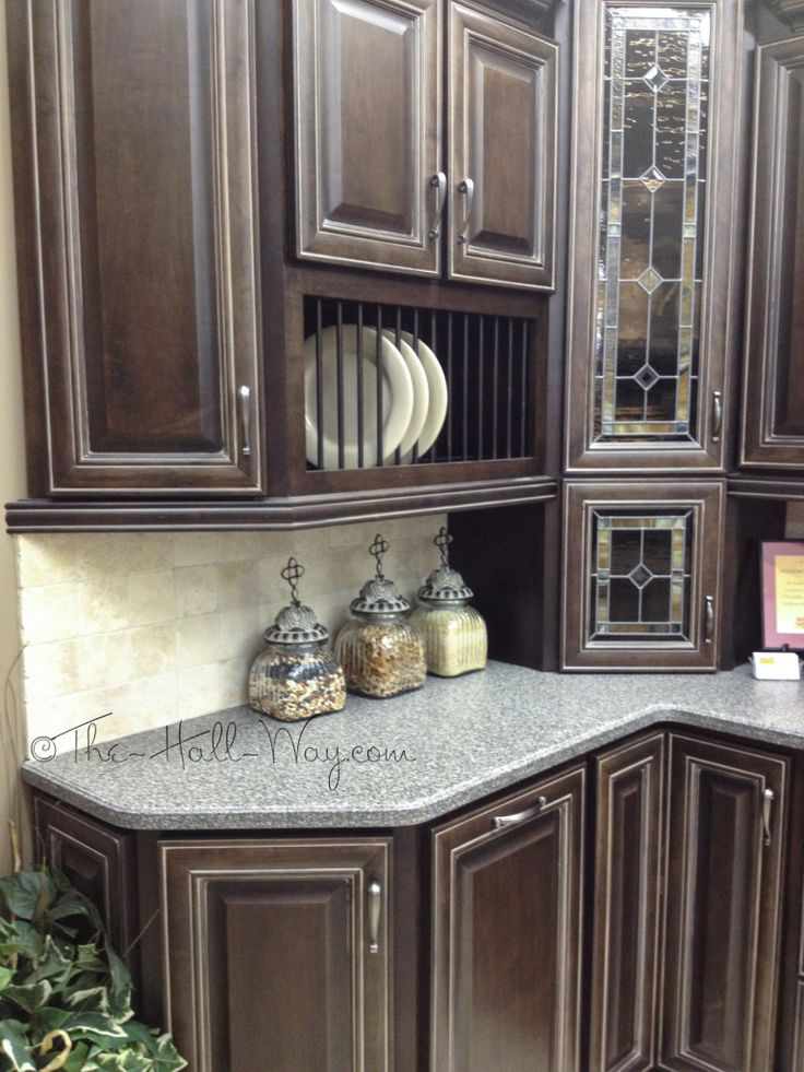 Espresso Stained Maple Cabinets With Khaki Glaze   Like The Cabinet Color,  Not Style