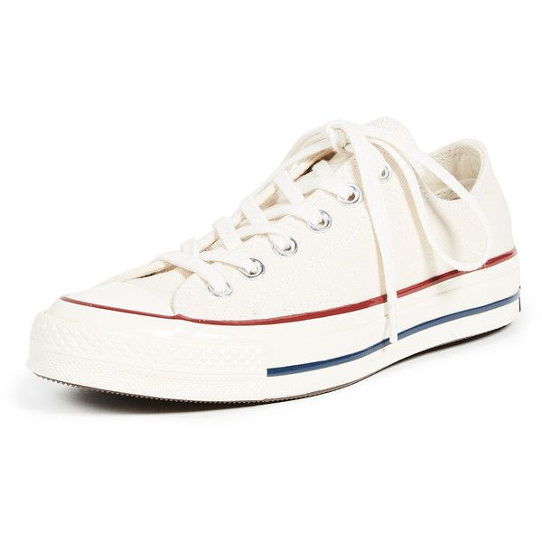Converse All Star '70s Oxford Sneakers ($80) ❤ liked on Polyvore featuring shoes, sneakers, parchment, lace up oxfords, canvas shoes, canvas lace up sneakers, oxford sneakers and converse shoes