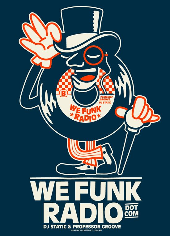 NEW TEE DESIGN FOR WE FUNK RADIO by 123KLAN , via Behance