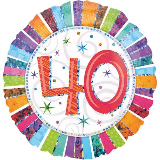 Mooie folieballon voor een veertigste verjaardag!