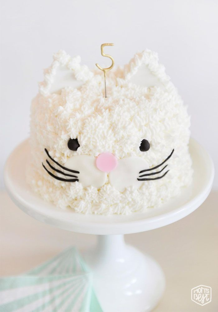 Kids Party // Cute & Easy Cat Cake