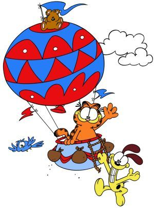 Garfield-hot air balloon ride