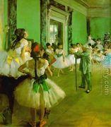 Dance Class II  by Edgar Degas
