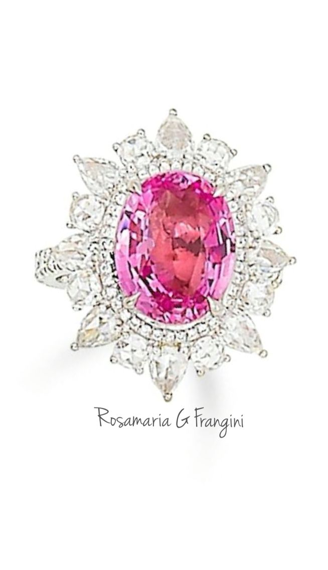 Rosamaria G Frangini | High Pink Jewellery | A padparadscha sapphire and diamond ring