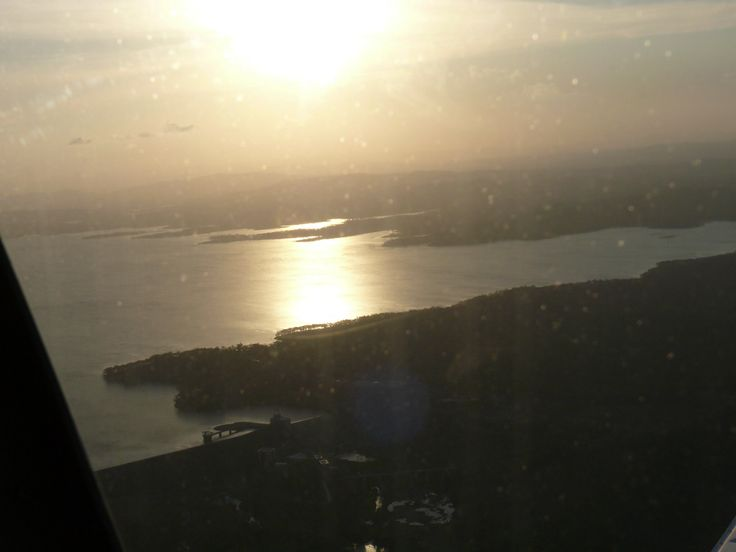 Sunset over Gladstone river