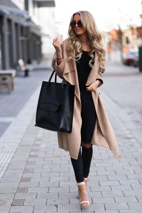 tan wool coat