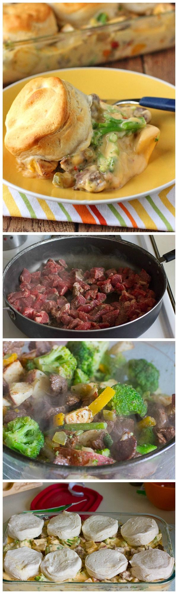 30-minute casserole for steak and potato lovers!