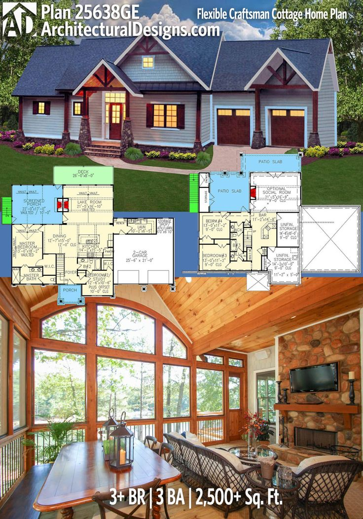 Architectural Designs House Plan 25638GE. 3+BR | 3BA | 2,500+SQ.