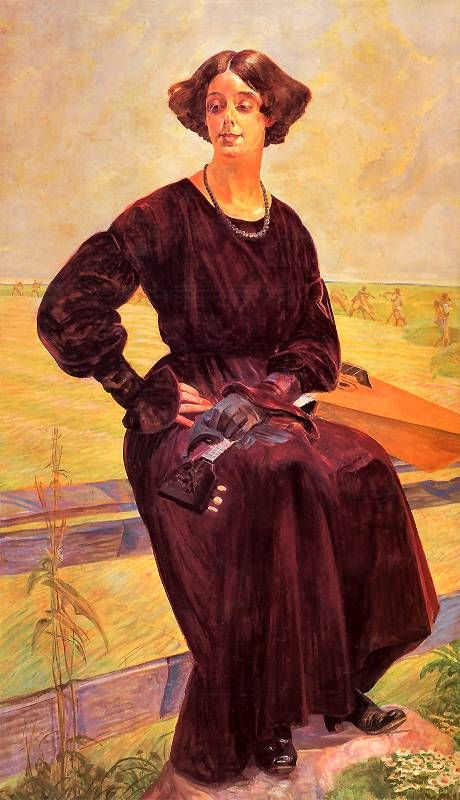 Jacek Malczewski - Skończona pieśń, portret Róży Aleksandrowiczowej, 1919